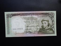 PORTUGAL : 20 ESCUDOS  26.5.1964   P 167b   NEUF - Portogallo