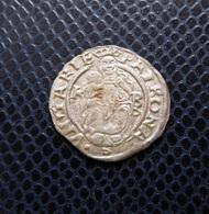 """HUNGARY / FERDINAND I.(1526-1564) SILVER DENAR 1552 K-BB Double """"B"""" / UNGER -- - HUSZAR -- - Hongrie"""