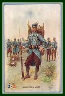 CPA Illustr. Léon Hingre Infanterie De Ligne Poilus Voy SEM BE - Guerre 1914-18