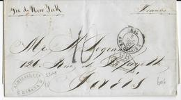 1867 - LETTRE De HABANA => PARIS Avec ENTREE Par AMBULANT CALAIS - TAXE ANGLAISE - Vorphilatelie