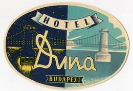 ETICHETTA VALIGIE PUBBLICITà HOTEL DUNA BUDAPEST LUGGAGE LABEL - Hotel Labels