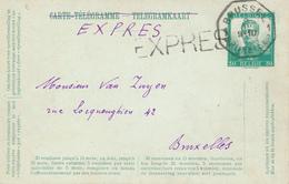 767/26 - Entier Carte-Télégramme Pellens En EXPRES Télégraphique BRUXELLES 1 En Ville - Stamped Stationery