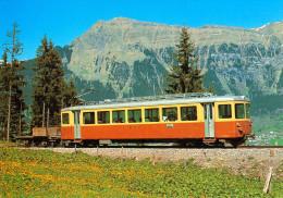 AK Eisenbahn Schweiz Bergbahn Lauterbrunnen-Mürren BLM Be 4/4 23 Mürrenbahn Zug SIG/BBC/SAAS Switzerland SUISSE - Eisenbahnen