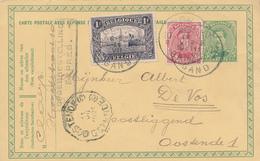 770/26 - Entier Postal Petit Albert + TP Dito En EXPRES GAND 1921 Vers Télégraphique OOSTENDE (C) - Postcards [1909-34]
