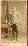 003683  Original-Portraitphoto K. U. K. Soldat Stehend - Guerra, Militari