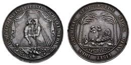 Frederik III. 1648-1670, Silbermedaille, O.J. (um 1650), Unsigniert, Von J. Blum Oder S. Dadler, Auf Die Trauung, Gluckh - Denmark
