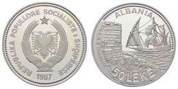 Republik, 50 Leke, 1987, Hafen Von Durazzo, In Der Originalkapsel,  KM 58, PP - Albania