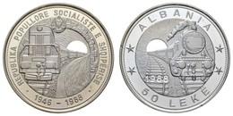 Republik, 50 Leke, 1988, 42 Jahre Eisenbahn, Rs., Nur Gekapselt,  KM 62, PP - Albania