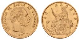 Christian IX., 1863-1906, 20 Kroner, 1873, Rs.,  KM 791.1, Vz- - Denmark