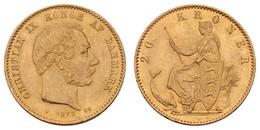 Christian IX., 1863-1906, 20 Kroner, 1873,  KM 791.1, Vz - Denmark