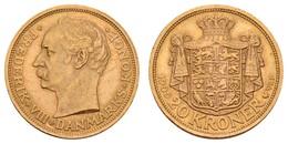 Frederik VIII. 1906-1912, 20 Kroner, 1909, Min. Rf.,  KM 810, Ss-vz - Denmark