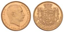 Christian X., 1912-1947, 20 Kroner, 1914,  KM 817.1, Vz - Denmark