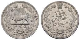 Muzzaffaredin, 1896-1907, 5 Krans, 1902 (1320), Rf., Ansonsten Fast St,  KM 976, Selten In Dieser Erhaltung - Iran