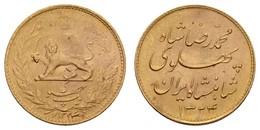 Mohammed Reza Pahlewi, 1941-1979, 1 Pahlavi, 1945 = 1324, Teheran, Mit Originalfolder Der Baden-Württembergischen Bank,  - Iran