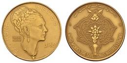 Mohammed Reza Pahlewi, 1941-1979, Ohne Jahr (1972), Goldmedaille Von S. Giandomenico Auf Die Kaiserin Farah Diba Und Ihr - Iran