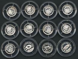 Republik, 1 $, 2004, Weltmeisterschaftsstadien Der Fussball-WM 2006 In Deutschland, 12 Kl. Silbermünzen, PP - Liberia