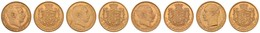 Frederik VIII. Und Christian X., 4x 20 Kroner, 1908-1913/14/17, Je Um Ss-vz, Schöner Einstieg In Dieses Beliebte Sammelg - Denmark