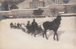 CPA  Suisse, ENGELBERG , Traineau Luge, Carte Photo. H. Hacki - OW Obwald