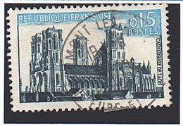 """Type SITES ET MONUMENTS - 12c Bleu-noir Et Bleu """"Cathédrale De Laon""""   N° 1235 Obl. - Oblitérés"""