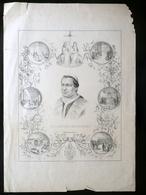 Papa Pio IX Litografia 16/6/1846 Primo Anno Pontificato Goldoni Modena Chiesa - Prints & Engravings