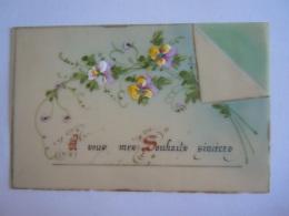 Mignonette Carte De Voeux Wenskaartje Celluloid Pain Main Form. 10 X 6,5 Cm - Other