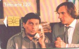 TELECARTE 120 UNITES TELEPHONE ET CINEMA GERARD DEPARDIEU ET CHRISTIAN CLAVIER 10/95 - France