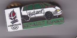 Pin's RENAULT ESPACE ALBERVILLE 92 - Renault