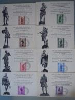 Belgie Belgique 1943 8 Maximum Cartes Kaarten Métiers Ambachten Série Antituberculeux Antiteringszegel Cob Yv 615-622 - Maximumkarten (MC)