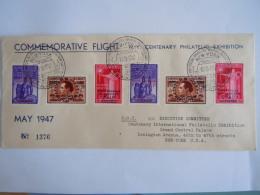 Belgie Belgique 1947 Commemorative Flight Brussel-N.Y Cover François Bovesse LP PA21-PA23 PA21A-23A  PA22A-V2 Varieteit - Airmail