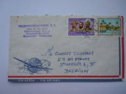Venezuela 1969 Lettre Cover -> Belgium Timbre Tourisme Fondateurs De La Ville De Maracaîbo Yv 774 PA 971 - Venezuela