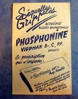 Buvard Ancien, PHOSPHONINE Viophan - Asthénie Algies Rhumatismales, Séquelles Grippales - Produits Pharmaceutiques