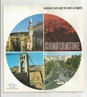Dépliant Touristique , ALGERIE , CONSTANTINE , 15 Photos , 2 Plans, 14 Pages , 3 Scans , Frais Fr 1.65 E - Tourism Brochures
