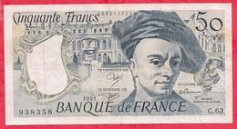 """50 Francs """"Quentin De La Tour"""" 1991 Série C.63------VF/SUP - 50 F 1976-1992 ''Quentin De La Tour''"""
