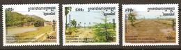 Cambodja Cambodge 1996 Yvertn° 1380-1382 *** MNH  Cote 6,00 Euro - Cambodge