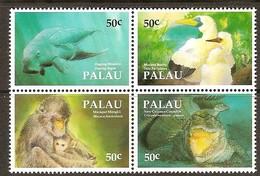 Palau 1993 Yvertn° 535-538 *** MNH Cote 9 Euro Faune Divers - Palau