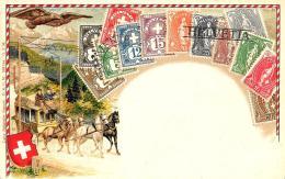 [DC12026] CPA - SVIZZERA - ANIMATA - IN RILIEVO - PREFETTA - Old Postcard - Svizzera