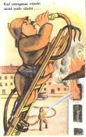[DC12035] CPA - HUMOR - POMPIERI - PERFETTA - Non Viaggiata - Old Postcard - Humor
