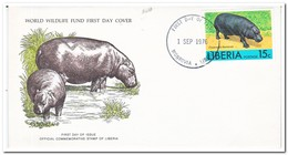 Liberia 1976, FDC, Choeropsis Liberiensis - Liberia