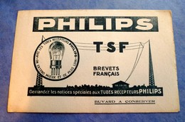 Buvard Ancien, PHILIPS - TSF, Tubes Récepteurs PHILIPS, Lampes - Electricity & Gas