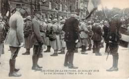 Militaria - WW1 - Fêtes De La Victoire 14 Juillet 1919, Les Trois Maréchaux à L'Hôtel De Ville - Guerra 1914-18