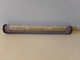 Etui Calculateur Bois Et Carton ( 21.5 X 2.5 Cm, 30 Gr ) - Sciences & Technique