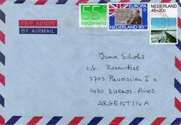 9.II.93 Luchtpostbrief  Van Arnhem Naar Buenos Aires - Periodo 1980 - ... (Beatrix)