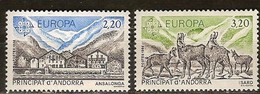 Andorra Andorre Cept 1986 Yvertn° 348-349 *** MNH Cote 9,00 Euro Europa - Andorre Français