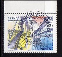 France 2018.Europa Pont De L'Europe.Passerelle Des Deux Rives.Cachet Rond Gomme D'Origine. - France
