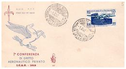 Fdc Venetia TRIESTE: I.C.A.O. 1952; No Viaggiata - Storia Postale