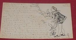 Carte Artisanale :: écrit En Sténo :: Dessin Homme En Costume D'époque :: Tampon 1904  ------ 464 - Fantasie