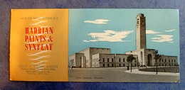 Buvard Ancien Anglais - HADRIAN PAINTS & SYNFLAT, Job Of The Month October 1954- Civic Centre, SWANSEA - Blotters