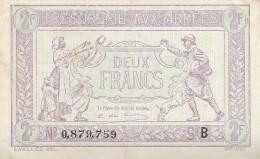 Billet 2 F Trésorerie Aux Armées 1917 FAY VF 5.2  Lettre B Bel état - Treasury