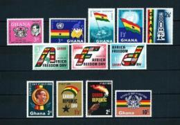Ghana  Nº Yvert  59-60/3-68/70-71/4  En Nuevo - Ghana (1957-...)