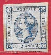 Italie N°11a 15c Bleu (1er Tirage) 1863 (*) - 1861-78 Victor Emmanuel II